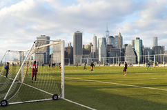 Sunday soccer in NYC. Royalty Free Stock Photo