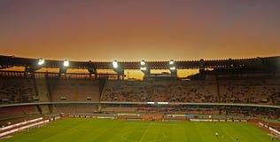 Sunday sunset over the Stadio San Paolo ,Napoli. Sunday sunset over the Stadio San Paolo before the  match Napoli vs Udinese Royalty Free Stock Image