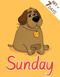 Sunday. Weekdays hipster vector illustration calendar set vector illustration