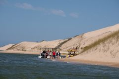 Sundays River ferry at the Alexandria coastal dune fields near Addo / Colchester, South Africa. The Sundays River ferry at the Alexandria coastal dune fields stock image