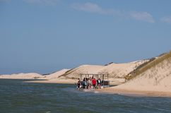 Sundays River ferry at the Alexandria coastal dune fields near Addo / Colchester, South Africa. The Sundays River ferry at the Alexandria coastal dune fields royalty free stock photo
