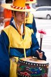 Folk celebrations in Seoul, Korea stock image