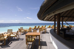 Sundeck. Of angsana ihuru island resort, maldives Royalty Free Stock Photos