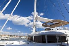Sundeck on ocean yacht Royalty Free Stock Photos