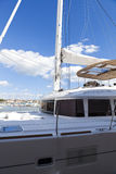 Sundeck on ocean yacht Stock Images