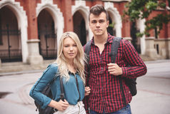 Sundents at the university Stock Photo