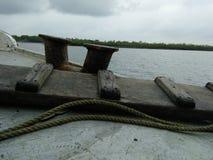 Sunderban floder från det traditionella fartyget Arkivbild