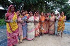 sunderban kvinnaarbetare Arkivbild