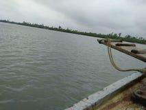 Sunderbans rzeka od łodzi Zdjęcia Stock