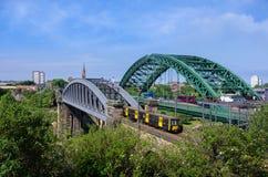 Sunderland-Brücken Stockbild