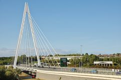 Sunderland`s Northern Spire Bridge royalty free stock photography