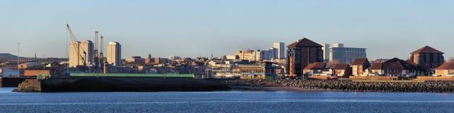 Sunderland stad från Wearmouth Royaltyfri Foto