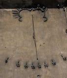 sundial ściana żelazna ściana Fotografia Royalty Free