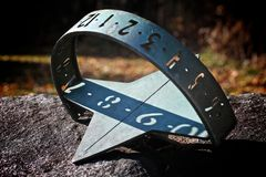 Sundial. A sundial tells time based on the sun's position in the sky Royalty Free Stock Images