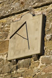 The sundial. On the church, Stokesay, Shropshire Royalty Free Stock Image