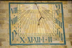 The Sundial. A means of telling the time from the suns rays Stock Image