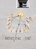 Sundial. In Germany there often very interesting sundials Royalty Free Stock Photography