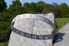 Sundial. A picture of a sundial in a park Stock Photo