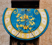 Sundial. A sundial in the small town of Bautzen (Germany Royalty Free Stock Images