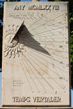 Sundial. The sundial a means of telling the time from the sun rays Royalty Free Stock Images