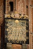 Sundial. On the wall of the townhall in Gdansk Stock Photo