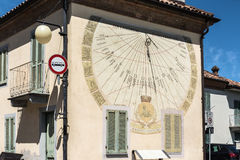 Sundial in Barbaresco, Italy Royalty Free Stock Image