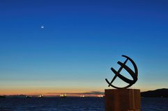 Sundial by the beach Stock Photography