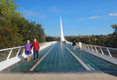 Sundial Bridge over the Sacramento River in Redding, California Royalty Free Stock Photography