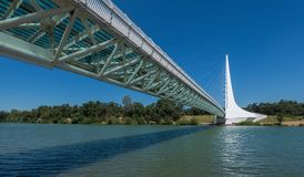 Sundial Bridge. At Turtle Bay on the Sacramento River Trail in Redding California Stock Photos