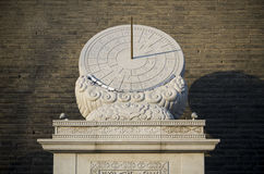 Sundial chinês imagem de stock