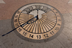 Sundial clock Royalty Free Stock Photography
