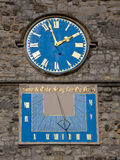 Sundial and clock royalty free stock images