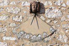 Sundial clock Stock Photography