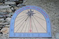 Sundial clock Royalty Free Stock Images
