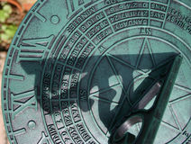 Sundial close up Stock Image