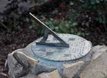 Sundial. Close up of a sundial during the day Stock Photos