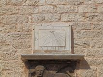 14:30 on a sundial from 1867. , on the Palace Bembo outer wall Royalty Free Stock Photography