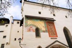 Sundial em Hohensalzburg, Salzburg, Áustria imagem de stock