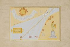 Sundial on Exterior of Friulian Farming Culture Museum Royalty Free Stock Image