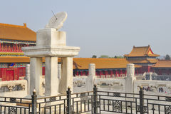 Sundial in Forbidden City Royalty Free Stock Image