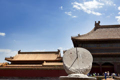 Sundial in the Forbidden city Stock Image