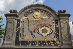 Sundial in the garden of the Prinsenhof in Groningen Stock Photography