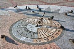 The sundial on granite base Stock Images