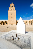 Sundial of Great Mosque. In Kairouan Stock Photos