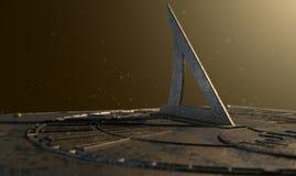 Sundial Gubjący W czasie obraz royalty free