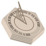 Sundial illustration Stock Image