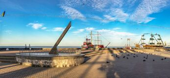 Free Sundial In Berdyansk, Ukraine Royalty Free Stock Image - 193689066