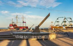 Free Sundial In Berdyansk, Ukraine Royalty Free Stock Photo - 193689385
