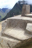 The sundial of Machu Picchu' stock photography