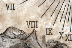 Sundial Macro Stock Photos